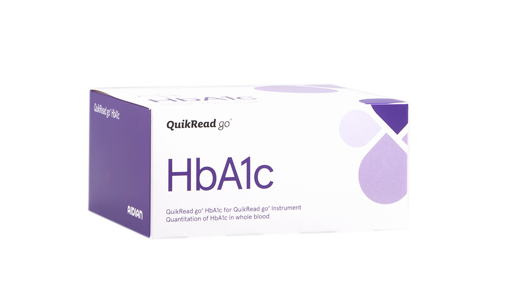 QuikRead go HbA1c kit box