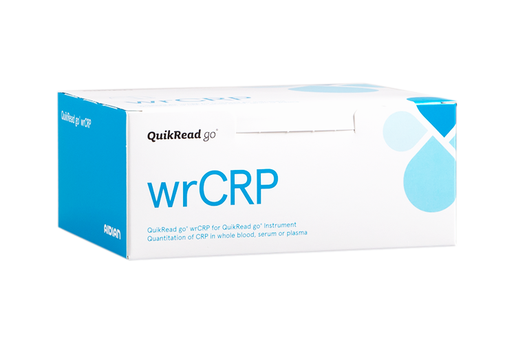 QuikRead go wrCRP kit box